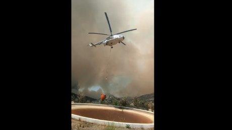 Вертолёты из Молдовы помогают тушить лесные пожары в Турции (ВИДЕО)