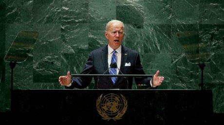 Джо Байден на Генассамблее ООН: Мы будем противостоять попыткам более сильных государств подчинить слабые