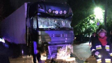 Врезался в дерево, столбы и дом: подробности ночной аварии с фурой на Хынчештском шоссе