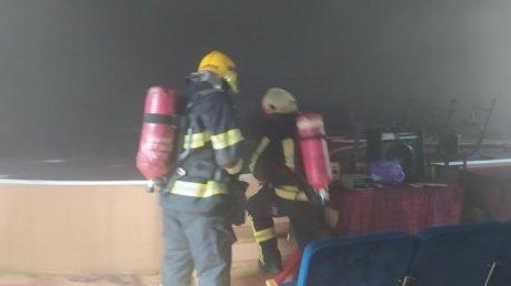 Пожар в Финансово-экономическом колледже: огонь тушили четыре бригады пожарных