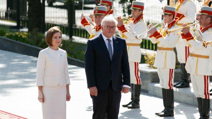 Президент Германии Франк-Вальтер Штайнмайер в Кишинёве. Фоторепортаж с первого дня визита