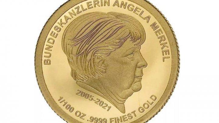 В Германии появились золотые монеты с портретом Ангелы Меркель